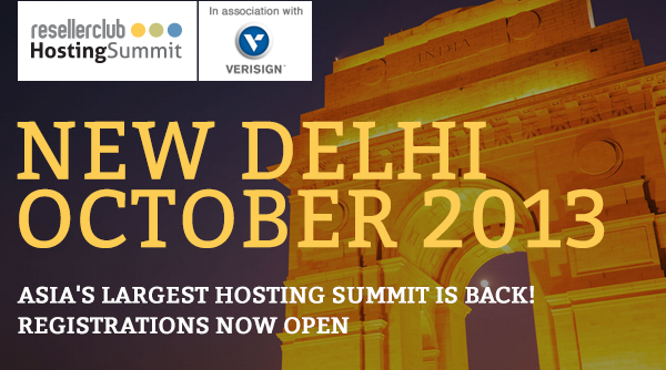rchs2013 mail header ResellerClub Hosting Summit 2013, Gurgaon, New Delhi – 17 18 October Announced!