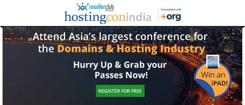 banner3 ResellerClub presents HostingCon India!